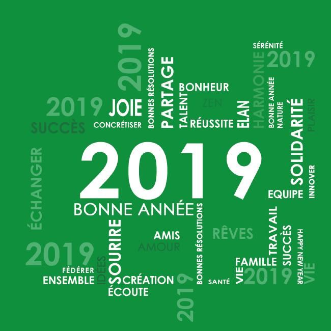 Toute l'équipe de la Gym' vous souhaite une bonne année 2019, et vous retrouvera lundi 7 janvier pour la reprise